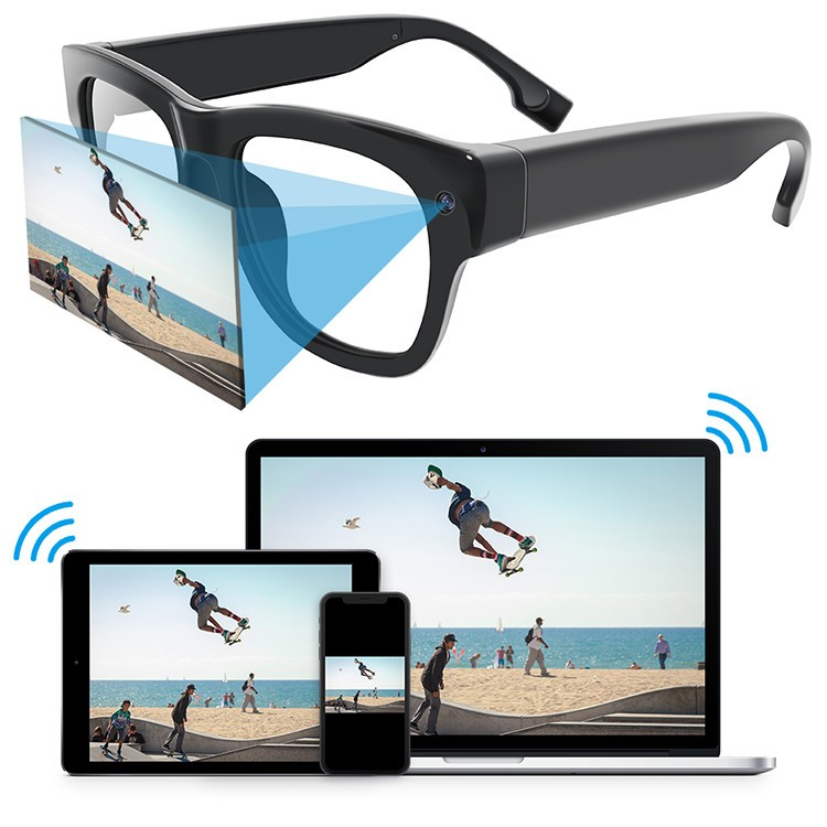 Eyeglasses WiFi IP Security Camera - 1