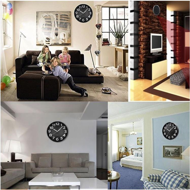 Home Decoration Wifi Wall Hidden Spy Camera Clock - 3