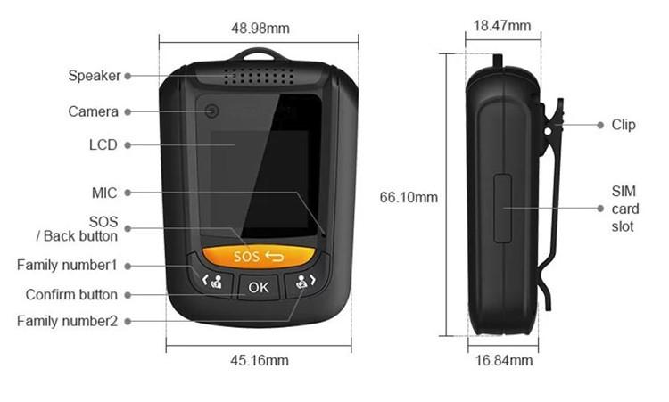Mini Personal GPS Tracker for Elderly, Kids - 2