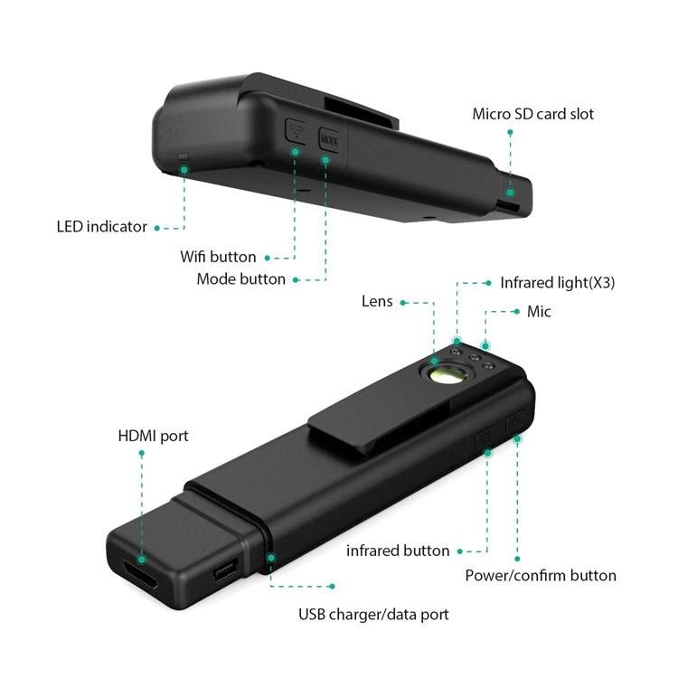 Mini Spy Camera - Hidden Pocket Pen Camera 170 Degree Wide Angle Lens - 3