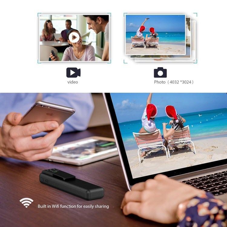 Mini Spy Camera - Hidden Pocket Pen Camera 170 Degree Wide Angle Lens - 5