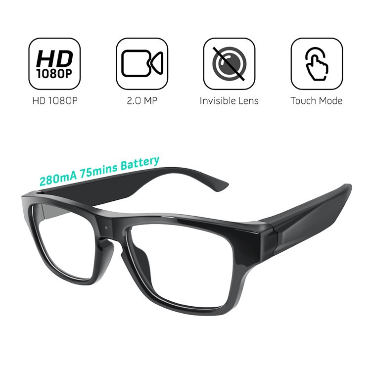 Touch Eyeglasses P2P Security Camera - 2
