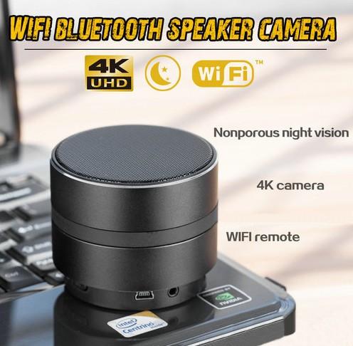 WIFI Network Bluetooth Speaker Camera, HD 4K Video, Max 128G SD Card - 3