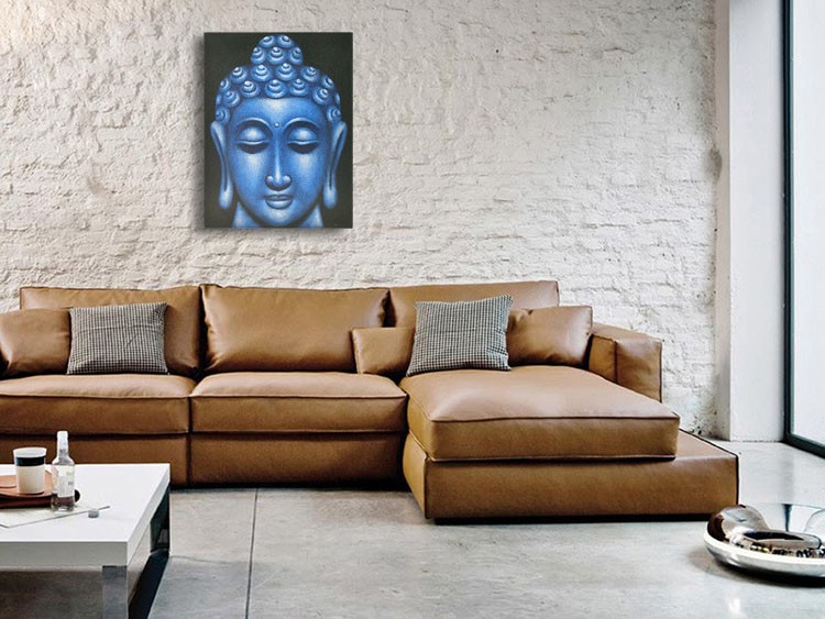 Blue Buddha Face - Oil Paint Spy Hidden Camera, 36 Hrs recording - sofa1