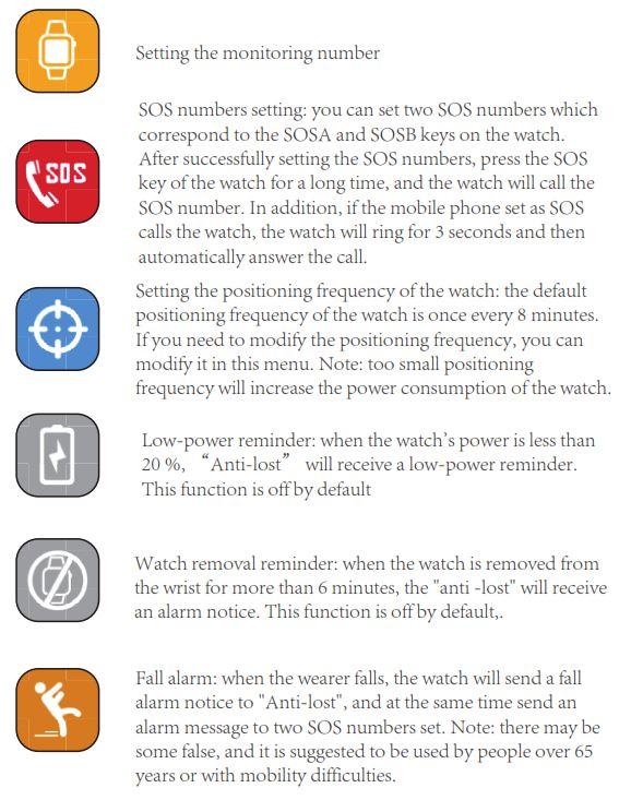 Elderly Health Monitoring GPS Tracker Watch - 17