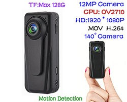 Mini HD Body Worn Police Camera - 1 250px
