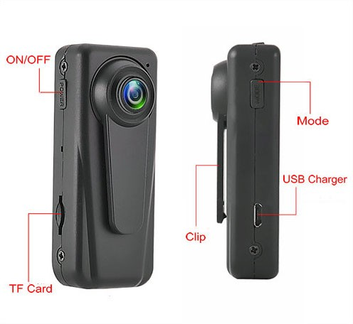 Mini HD Body Worn Police Camera - 4