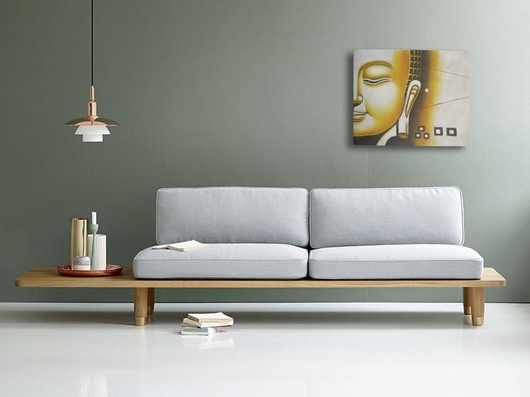 SPY232H - Yellow Buddha Face Oil Paint Spy Hidden Camera - sofa