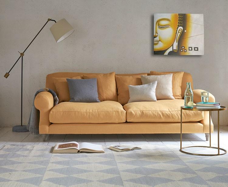 SPY232H - Yellow Buddha Face Oil Paint Spy Hidden Camera - sofa1