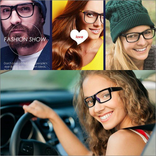 Spectacles Spy Camera DVR,5.0MP CMOS1080P30fps 120Degree - 9