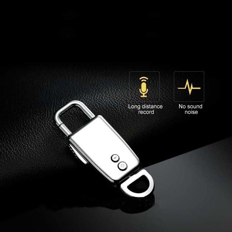 Mini Keychain Voice Recording, Standby 68 Hrs, Grabaketa 28 Hrs - 4