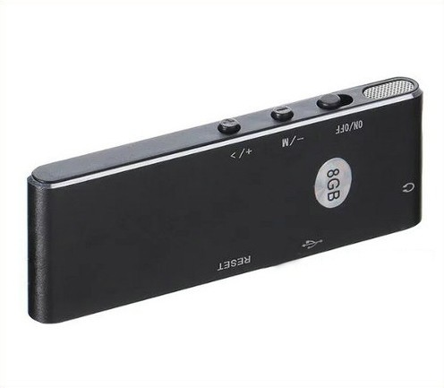 Ultra-thin Voice Recorder, 50 hrs Recording Time - 4