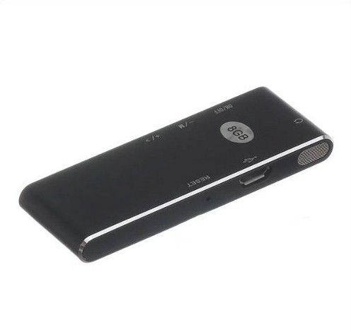 Ultra-thin Voice Recorder, 50 hrs Recording Time - 8
