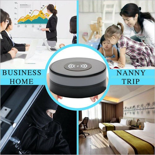 Wireless Charger WIFI Hidden SPY Camera, 180 Deg Rotation Lens - 2