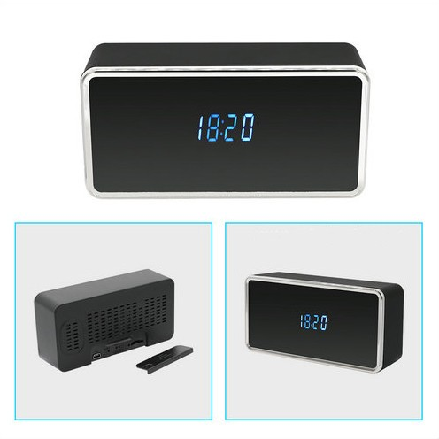 Rectangular WIFI Clock Camera, 128G - 4