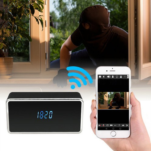 Rectangular WIFI Clock Camera, 128G - 6