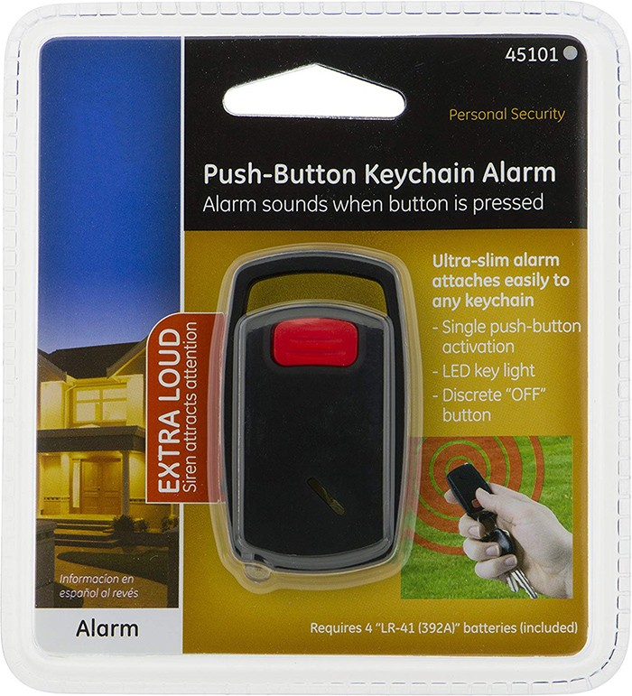 Self-Defense Push-Button Keychain Alarm, Built-In LED Light - 4