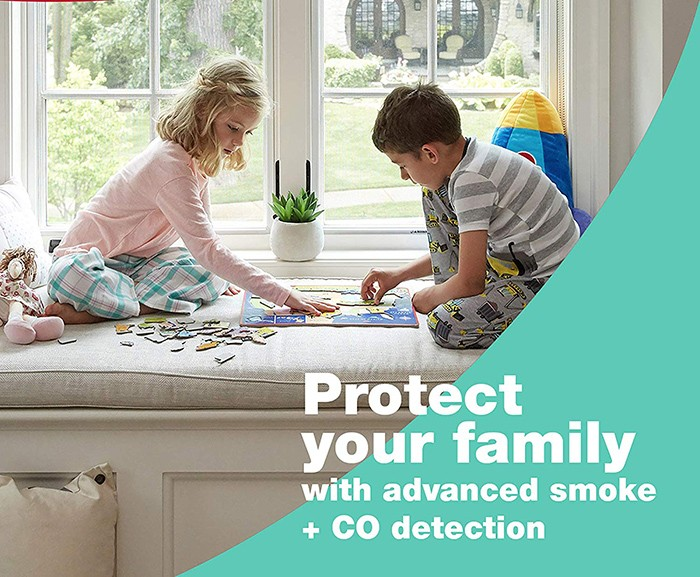 Smoke and Carbon Monoxide Detector, Battery Operated - 2