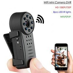 Clip WIFI SPY Hidden Wide Lens Camera, Nightvision, SD Max 64G, 300mAh battery - 1 250px