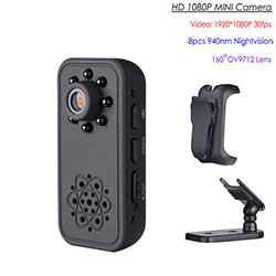 HD SPY Hidden Mini Camera, Super Nightvision, Motion Detection, Battery 3Hrs - 1 250px
