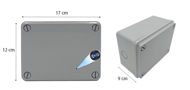 HDB PVC Electrical Junction Enclosure Splashproof Box Spy Hidden Camera Final