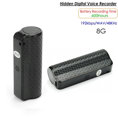 Hidden Voice Recorder, 600 Hrs, Buildin 8G - 1