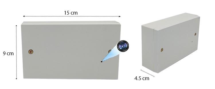 2 Gang WIFI Wall Moulded Socket Outlet SPY Hidden Camera Final