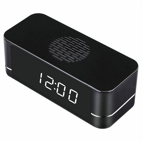 4K WIFI Clock Camera, Built Speaker Two Way Talk, 3000mAh Battery - 2