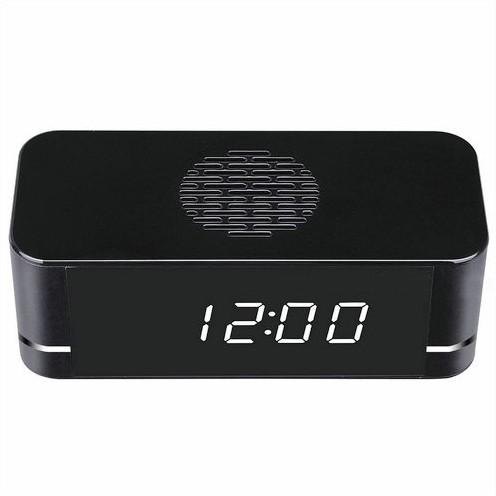 4K WIFI Clock Camera, Built Speaker Two Way Talk, 3000mAh Battery - 3