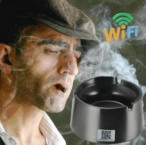 WIFI Ashtray Camera, 4K2K1080P Battery Working Time 18hours, SD Card Max 128GB - 2