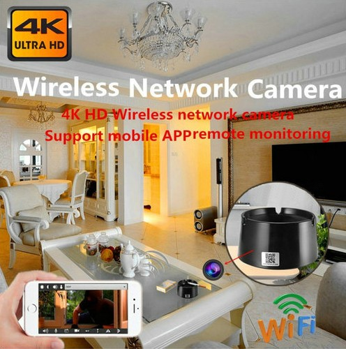 WIFI Ashtray Camera, 4K2K1080P Battery Working Time 18hours, SD Card Max 128GB - 3