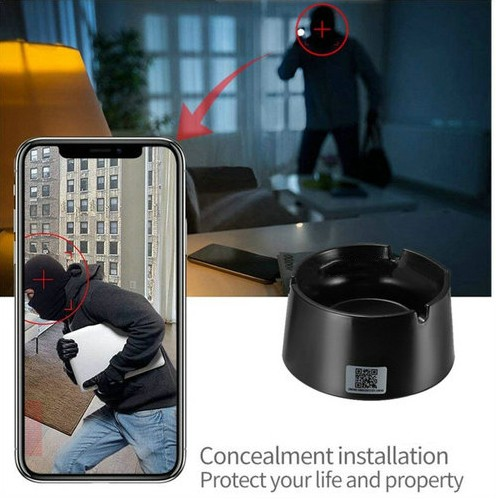 WIFI Ashtray Camera, 4K2K1080P Battery Working Time 18hours, SD Card Max 128GB - 7