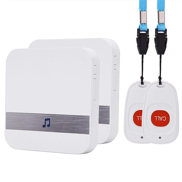 EA039 – OMG Wireless Emergency Panic Call Button with Wearable Button for Home/Personal (2 call buttons + 2 receivers)