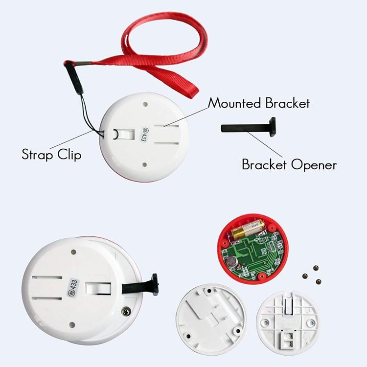 Wireless Emergency Panic Call Button (3 call buttons + 3 receivers) - 6