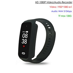 Wristband Spy Hidden Camera, TF Max 128G, Battery Rec Time 90min - 1 250px
