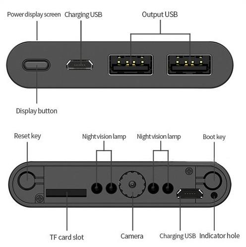 4K WIFI Powerbank Camera, Nightvision, SD Card Max 128GB, 6000mAh Battery - 6