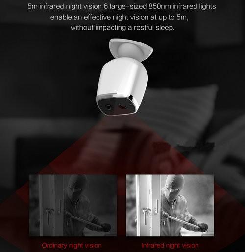 Long Battery Life WIFI Camera, HD720P, H.264, Nightvision - 7