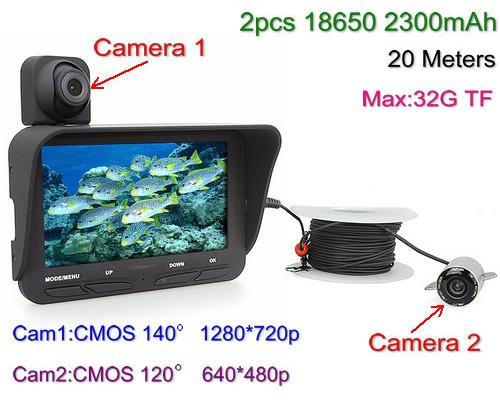 Under Water Camera DVR, Dual Camera, 4.3 inch LCD, 720P&480P, 20meters - 1
