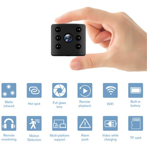 WIFI Mini Camera, HD1080P, H.264, Nightvision,TF Max 128G - 3