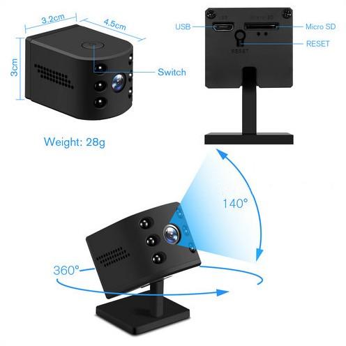 WIFI Mini Camera, HD1080P, H.264, Nightvision,TF Max 128G - 6