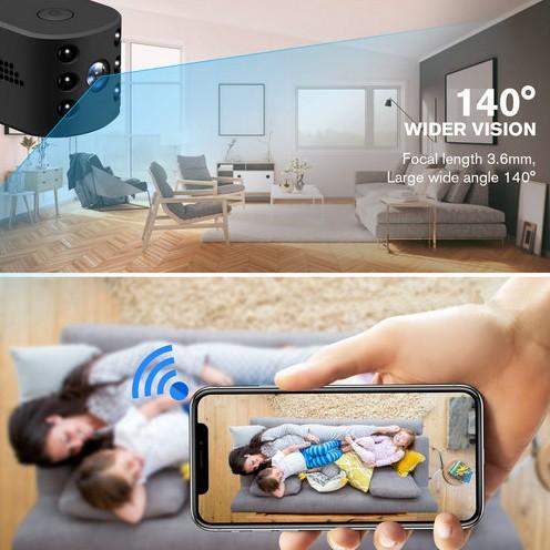 WIFI Mini Camera, HD1080P, H.264, Nightvision,TF Max 128G - 8