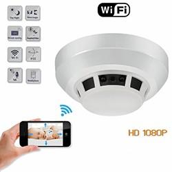 WIFI Smoke Detector SPY Hidden Camera, HD1080P, WIFI,P2P,IP, TF Max128G - 1 250px