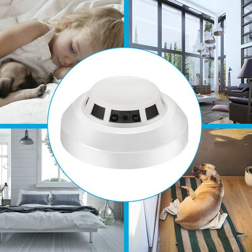 WIFI Smoke Detector SPY Hidden Camera, HD1080P, WIFI,P2P,IP, TF Max128G - 8