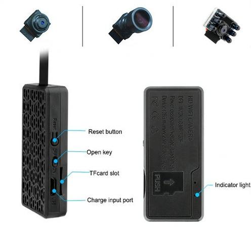 4K WIFI Camera Module, External 2500 mAh battery, TF Max 128G - 5