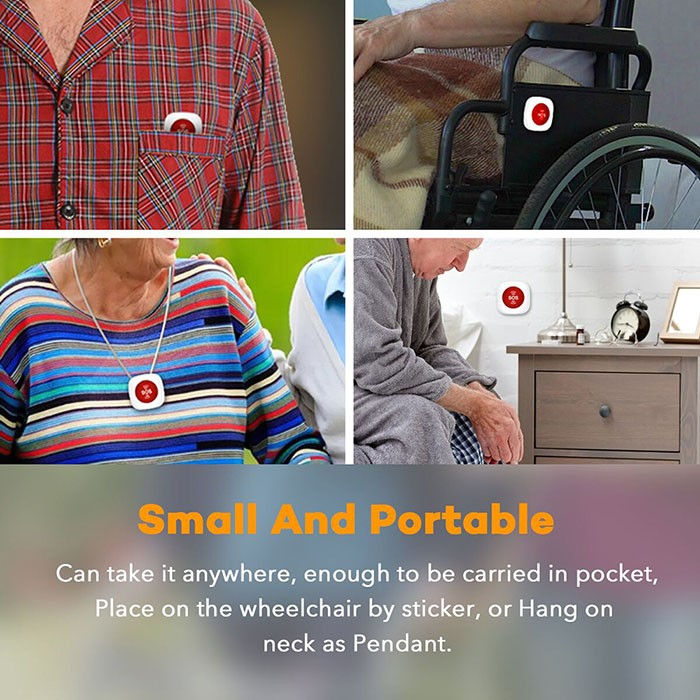 Wireless Portable Smart Nursing Call alarm - 4
