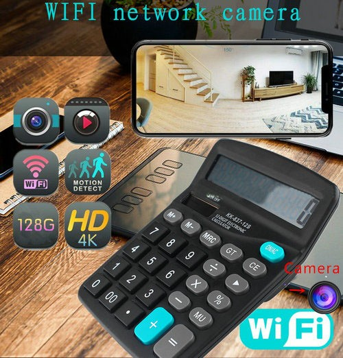 4K WIFI Calculator Camera, Support Max SD Card 128GB - 2
