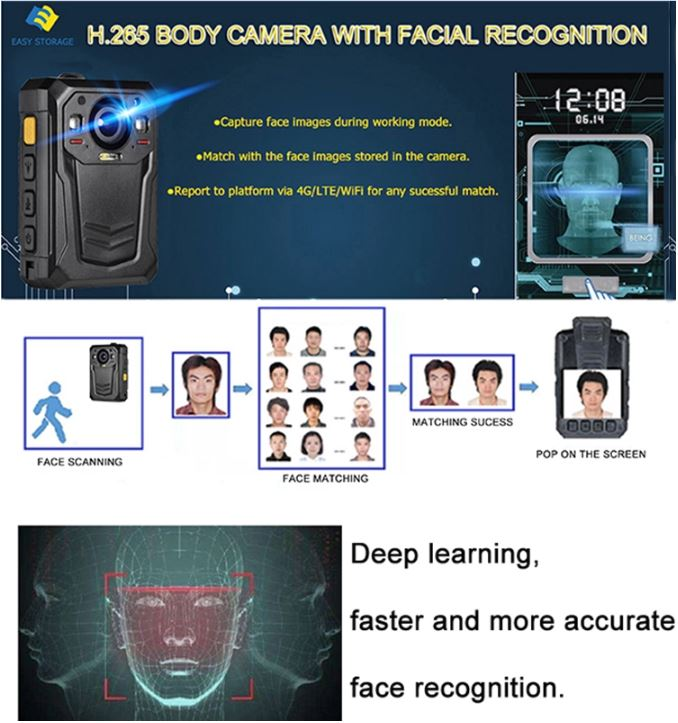 Mini WIFI,GPS,3G,4G Body Worn Camera - 10