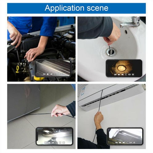 WIFI Endoscope Camera, HD 1600x1200 mp4, 3.5M Semi-rigid Cable - 7