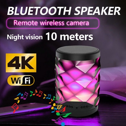 4K WIFI Bluetooth Speaker Lamp Camera with Two-way Talk - 2