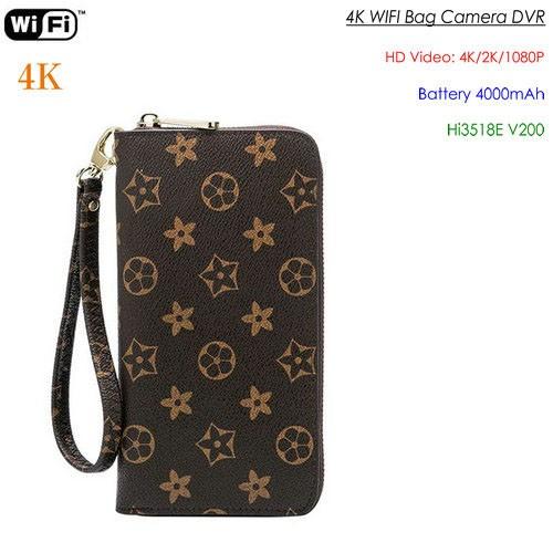 4K WIFI SPY Hidden Bag Camera, 4000mAh battery, SD Card Max 128G - 1